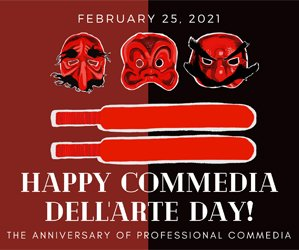 Celebrate International Commedia dell'Arte Day 2021 on February 25 with Faction of Fools Theatre Company