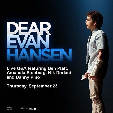 News: 'Dear Evan Hansen' Live Q&A in Cinemas Nationwide on September 23